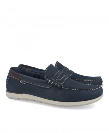 Snipe 05085C navy blue boat shoes