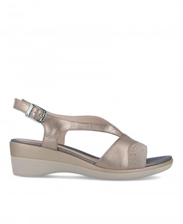 Stonefly 213793 gold wedge sandals