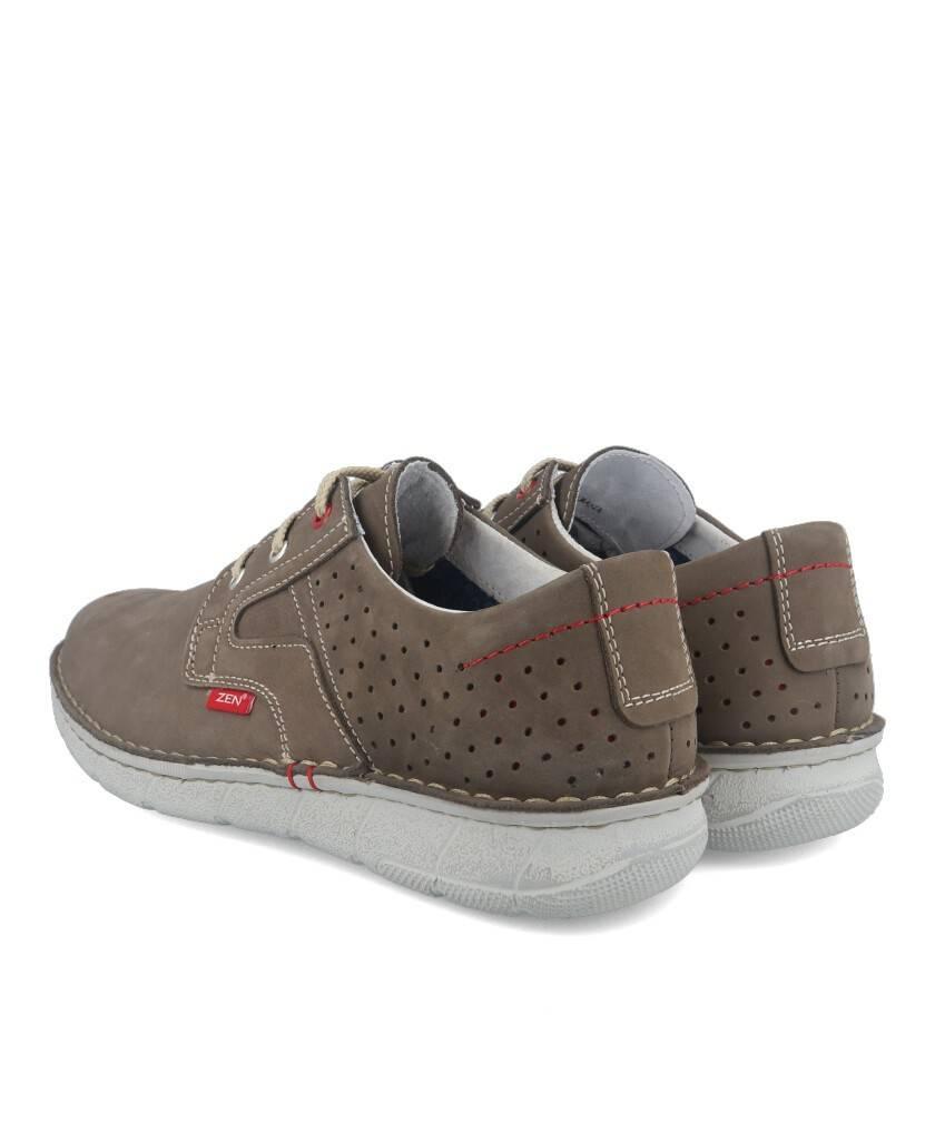 Zapatos para hombre en color taupe Caracteristicas con cordones altura de piso 3 cm zapato de estilo casual suela de goma termo