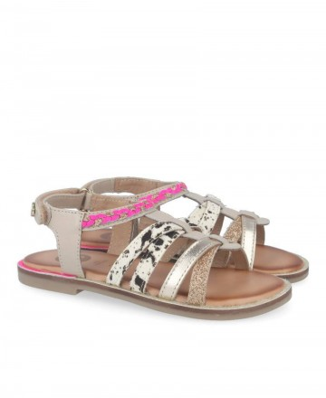 Girl sandals with animal print Gioseppo Simi 58890