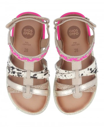 Catchalot Girl sandals with animal print Gioseppo Simi 58890