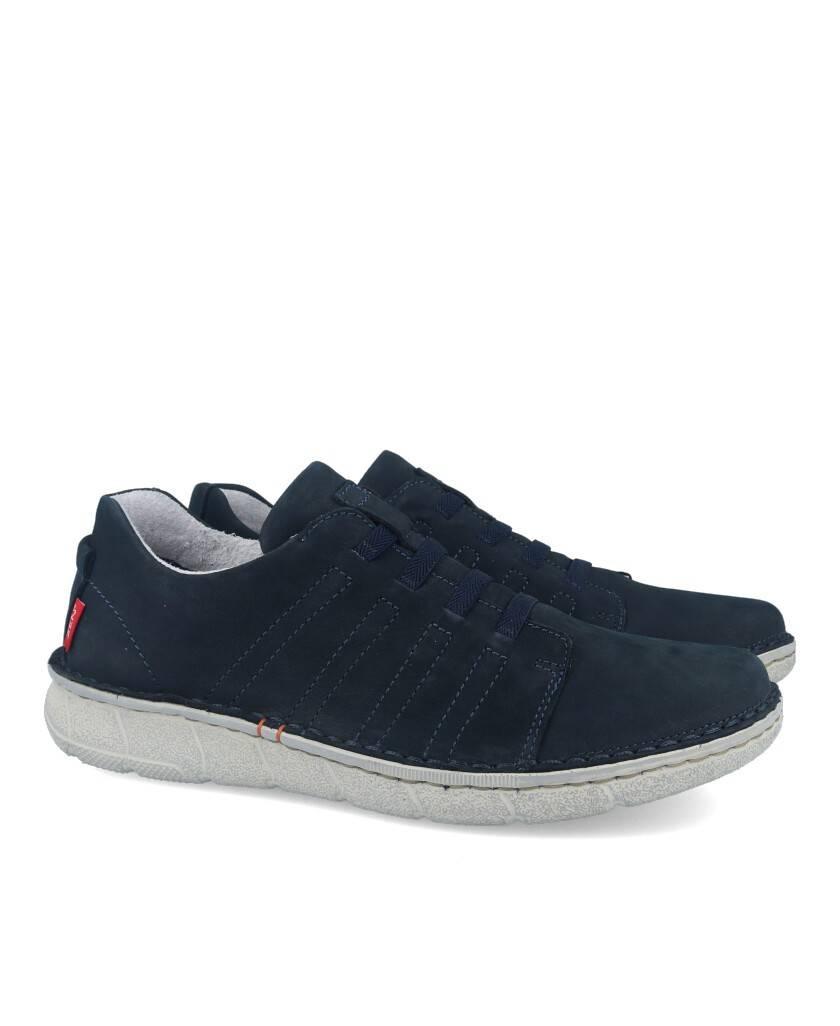 Zapatos para hombre en color azul marino Caracteristicas elastico altura de piso 3 cm zapato de estilo casual suela de goma ter