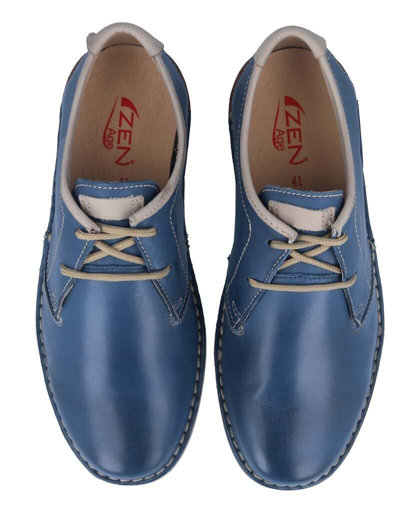 Zapatos para hombre en color azul marino Caracteristicas con cordones altura de piso 3 cm zapato de estilo casual suela de goma