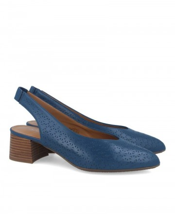 Catchalot 4054 Blue slingback pumps