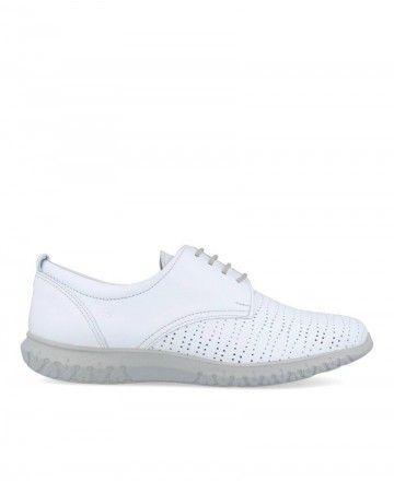 Zapatos color blanco con cordones Dorking D8230