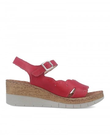 Walk & Fly leather sandal 6548-43920 red