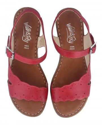 Catchalot Walk & Fly leather sandal 6548-43920 red