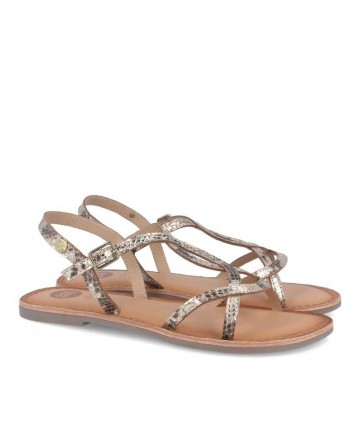 Gioseppo Tampa 58910 snake strap flat sandals