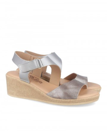 Andares silver comfortable wedge 417366