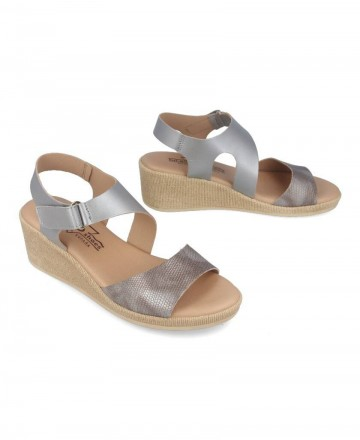 Catchalot Andares silver comfortable wedge 417366