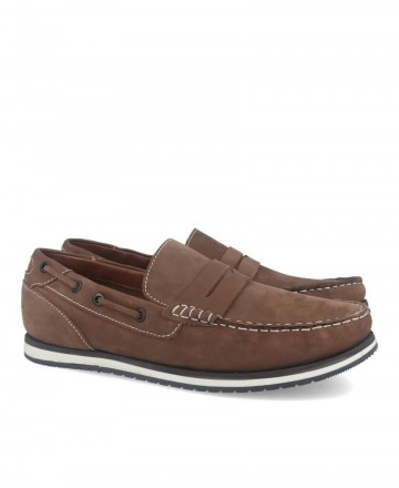 Traveris 2345 taupe leather loafer