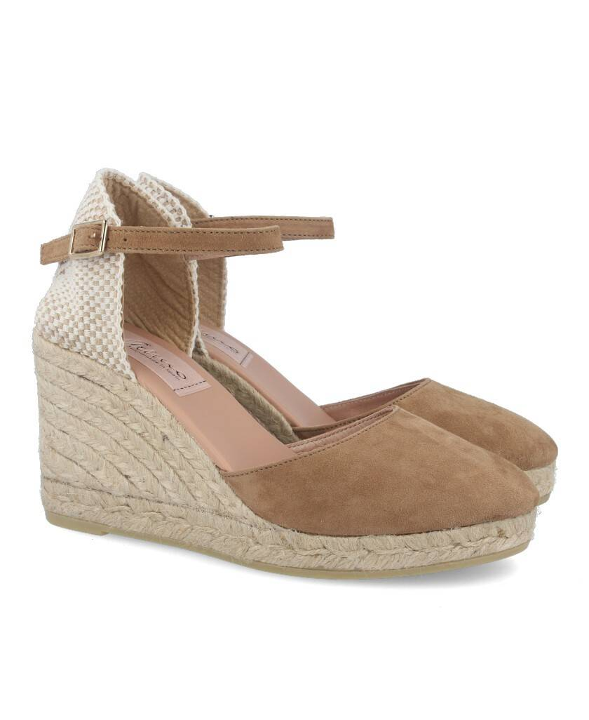 Gaimo Obi camel closed-cut espadrilles
