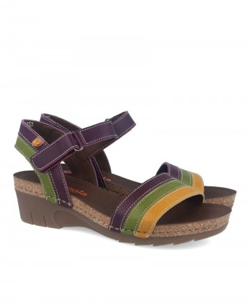 Wedge sandals for women in multi color Jungle 6883-180-25