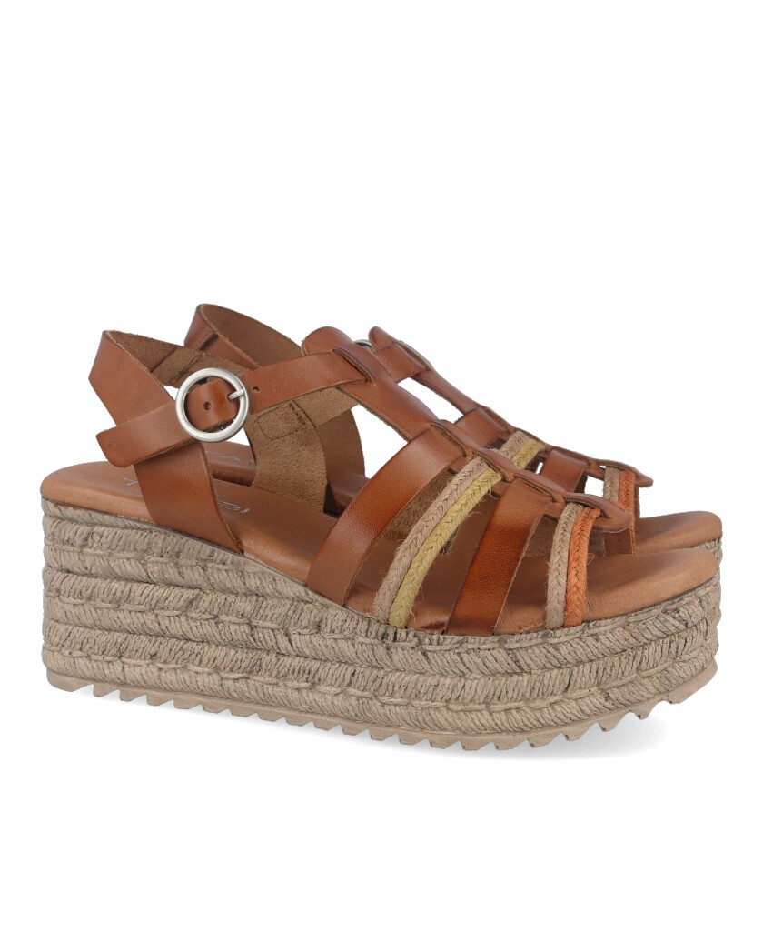 Wedge sandals with straps Tambi Feroe