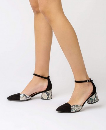 Catchalot Zapatos de tacón Wonders I-8002 negro