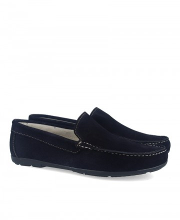 Catchalot 80737 Navy Suede Loafers