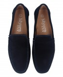 Blue suede leather loafer Catchalot 81946