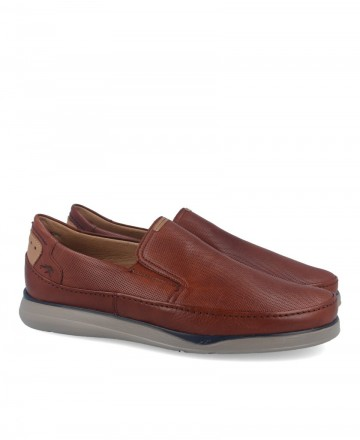 Zapatos marrones sin cordones Fluchos Jones F0466