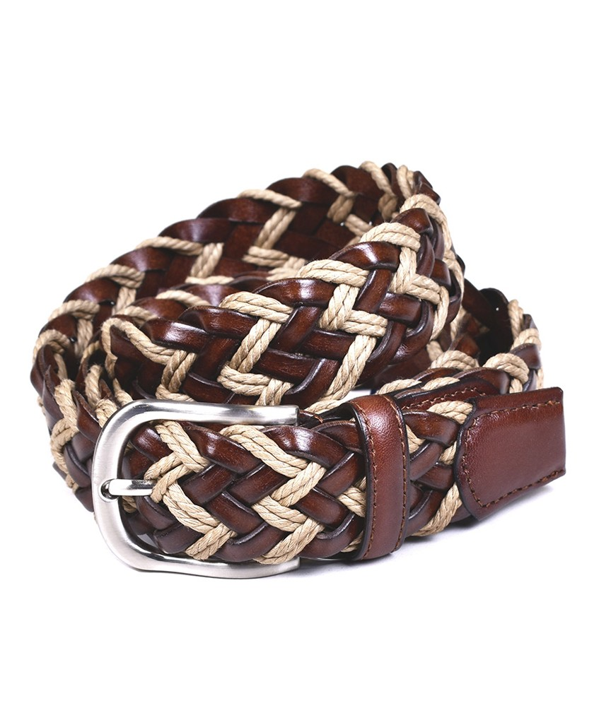 Braided leather belt Miguel Bellido 455-35