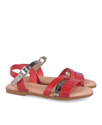 Red flat sandals Catchalot 4752