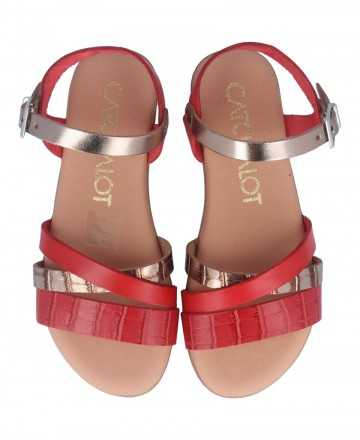 Catchalot Red flat sandals Catchalot 4752