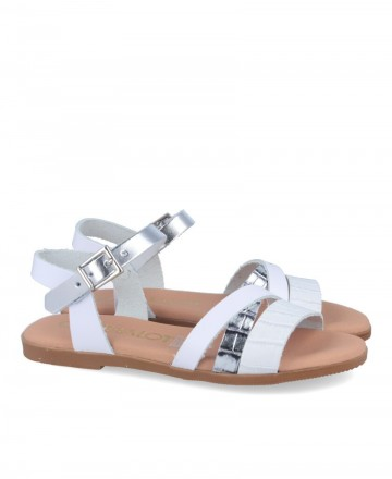 Catchalot 4752 leather flat sandals