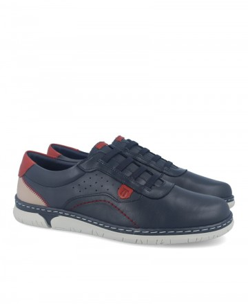 Notton 202 navy blue leather shoes