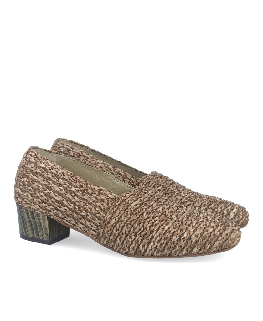 Wide heel shoes Baton Rouge 604080 taupe