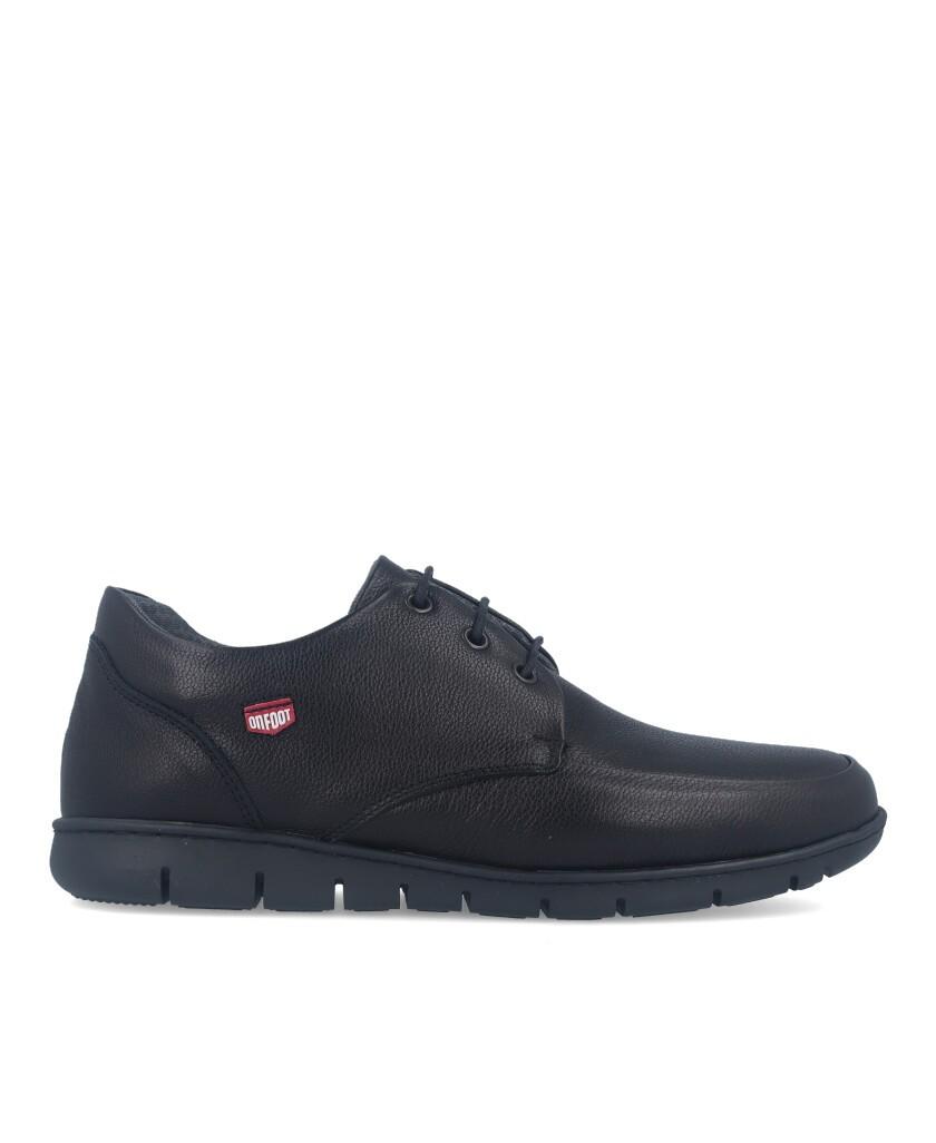 Zapatos de piel On Foot 8901 negro