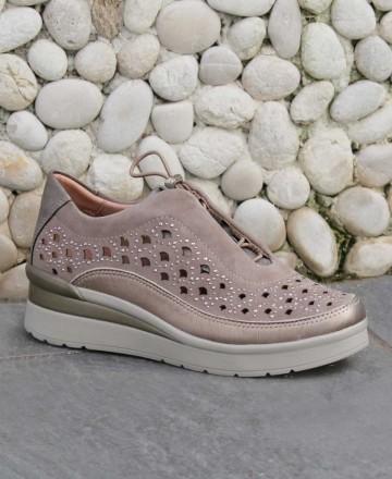 Catchalot Sneaker taupe troquelada Stonefly 213820