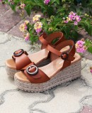 Tambi Urban platform wedge sandals