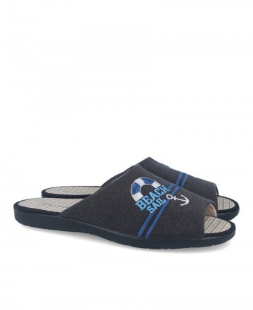 House slippers with sailor print Garzon 6980.127