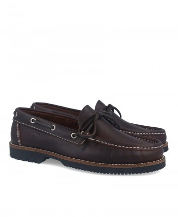 Fluchos 156 Pass Brown Boat Shoes