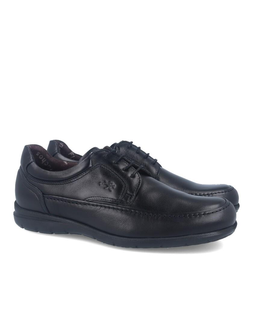Zapatos clásicos con cordones Fluchos Luca 8498 negro