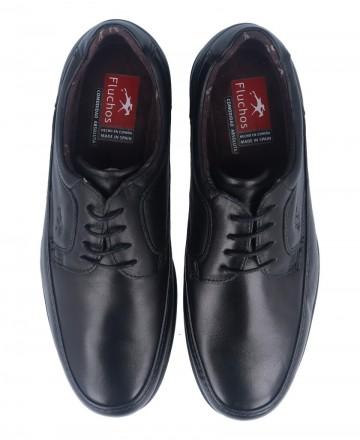 Catchalot Zapatos clásicos con cordones Fluchos Luca 8498 negro