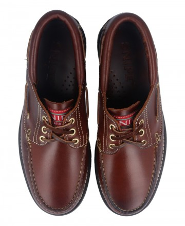 Snipe 21201 leather boat shoes