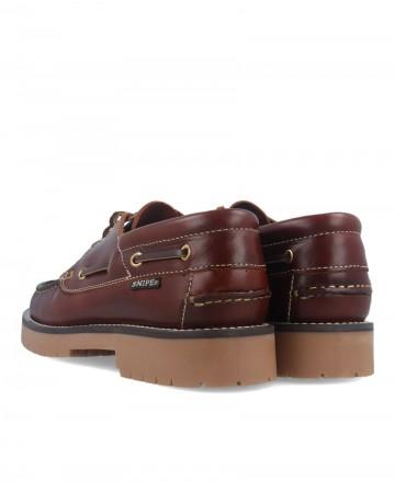 Zapatos náuticos Snipe 21201 cuero