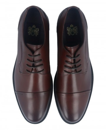 Catchalot Hobbs M55 59103L Brown Lace-up Dress Shoes