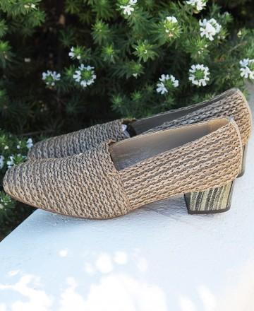 Catchalot Zapatos de tacón ancho Baton Rouge 604080 taupe