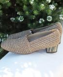 Zapatos de tacón ancho Baton Rouge 604080 taupe
