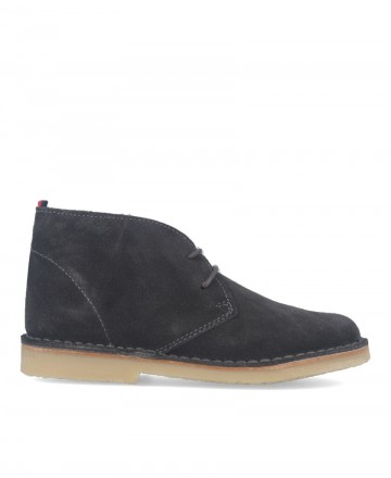 Catchalot Safari Gray Flat Ankle Boots