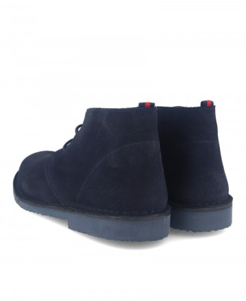 Cachalot Safari Blue suede ankle boot