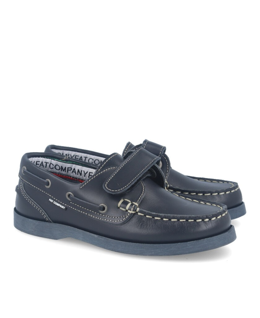 Boat shoe with Velcro closure Fat 212 Blue