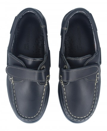 Catchalot Boat shoe with Velcro closure Fat 212 Blue