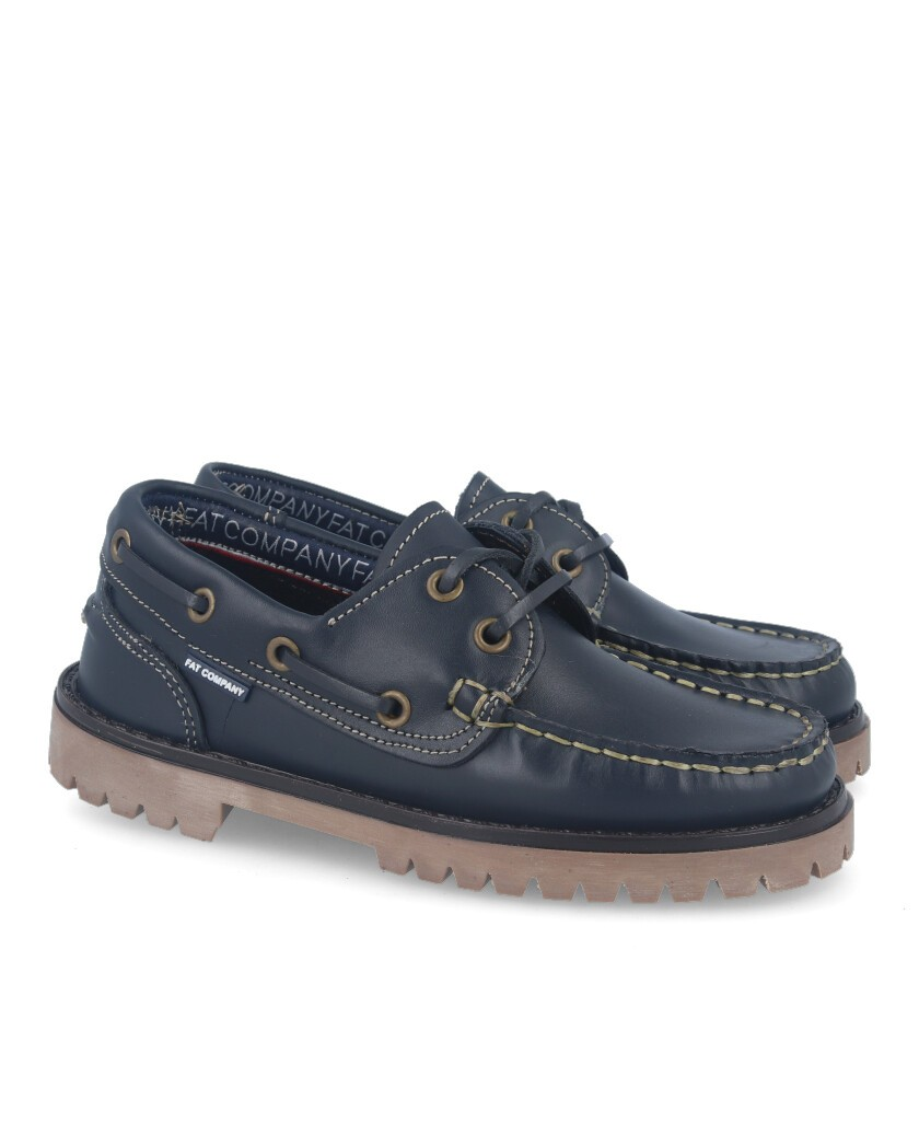 Fat 214 Navy Boat Shoes