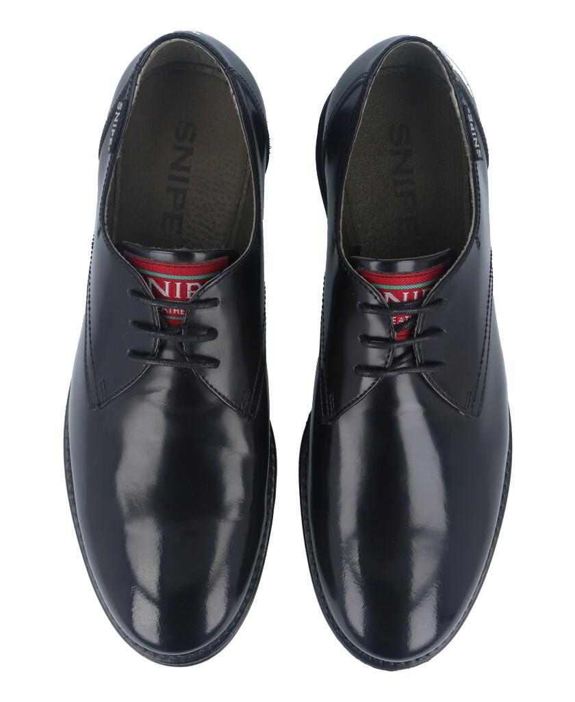pZapatos para hombre en color negro Caracteristicas con cordones altura de piso 2 cm piso de goma exterior florentic e interior