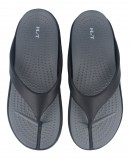 Very comfortable flip flops for men in black and gray Catchalot JB 1334