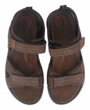 Mens sandals with velcro closure in brown Imac 504070