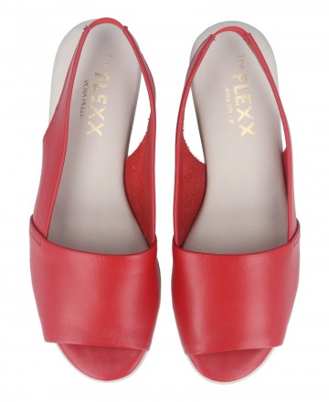 Catchalot Sandalias destalonadas de mujer en color rojo The Flexx 3401-03