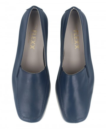 Catchalot The Flexx Huge Grant women's blue leather loafers